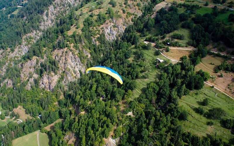 Learn to fly over the Swiss alps