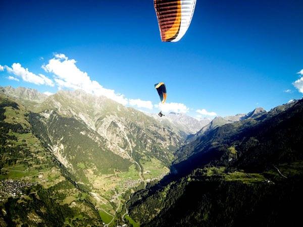paraglider taking off Verbier