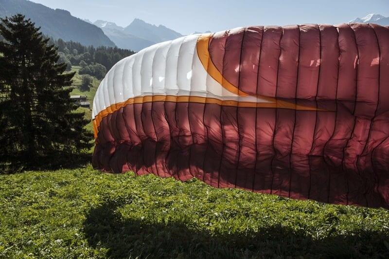 Paraglider take off Switzerland