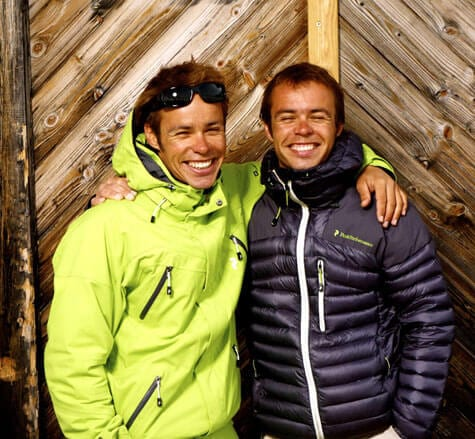 Paragliding twins Stu and Mike Belbas